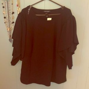 Black elegant dress top with fancy sleeves